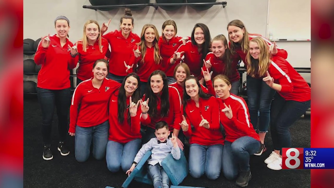 Anthony's Army: Milford boy becomes honorary member of Fairfield University's soccer tea