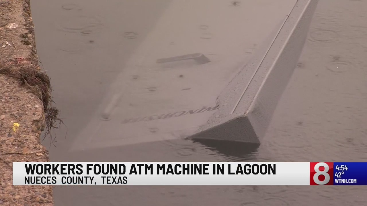 Texas park employees find ATM machine in lagoon