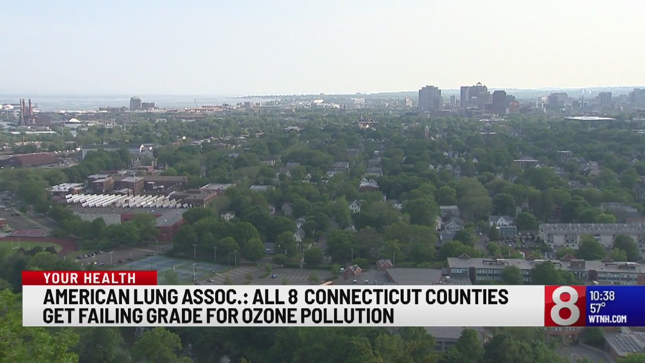 American Lung Association: all 8 Connecticut counties get failing grade for ozone pollution