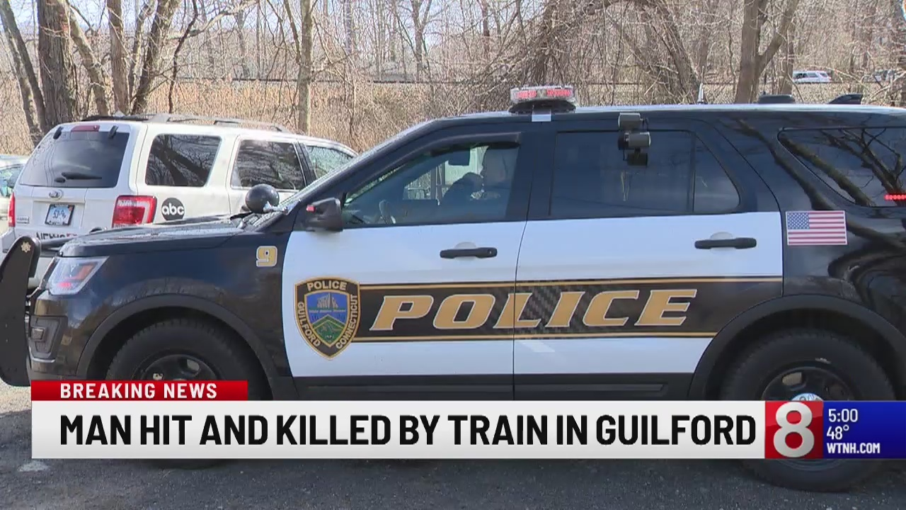 Officials: Man fatally struck by Amtrak train in Guilford, Shore Line East service suspended
