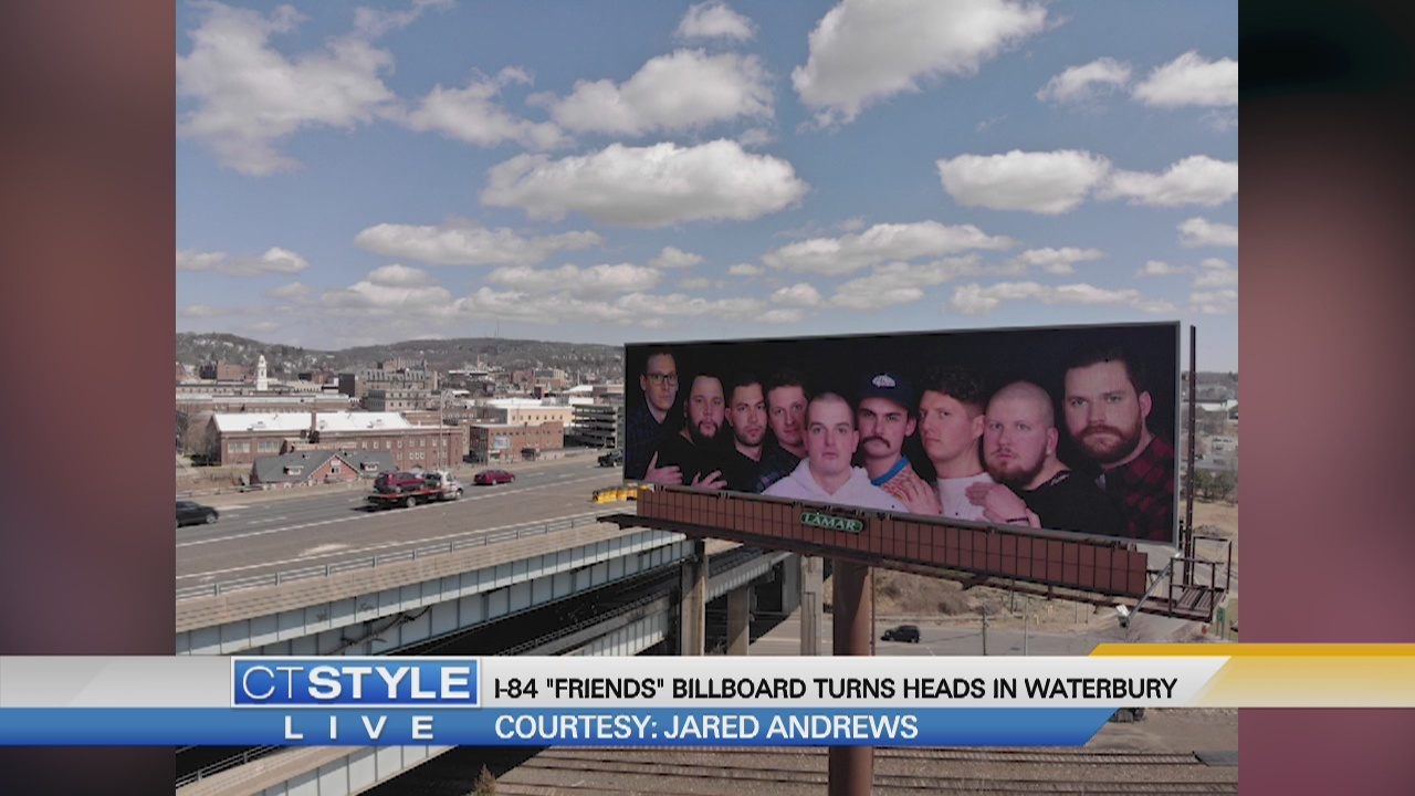 "Today's Dish: I-84 ""friends"" billboard turns heads in Waterbury"