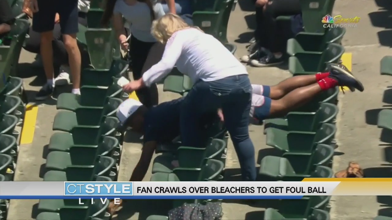 Today's Dish: Fan Crawls Over Bleachers to get Foul Ball