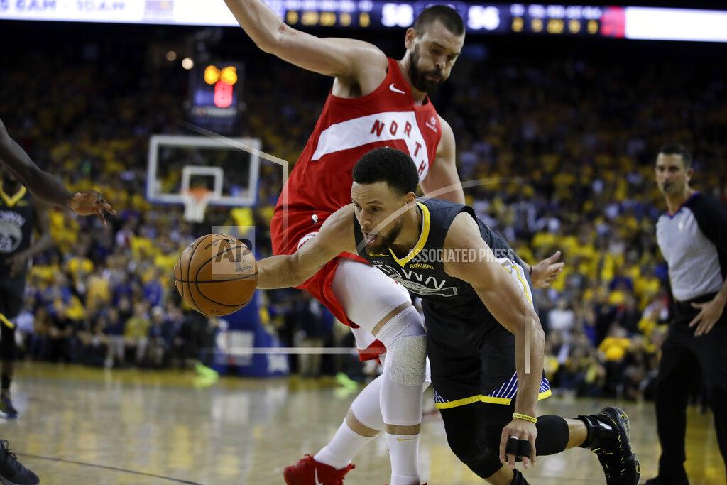 NBA Finals Raptors Warriors Basketball_1559966243393
