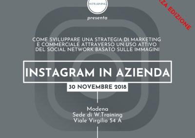 Instagram in azienda – TERZA EDIZIONE
