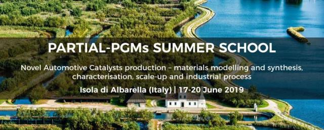 PARTIAL-PGMS Workshop e Summer School: la catalisi quale tecnologia chiave per l'Europa