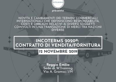 Incoterms 2020®: contratto di vendita/fornitura