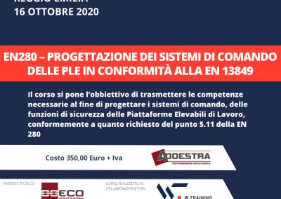 EN280 – Progettazione dei sistemi di comando delle PLE in conformità alla EN 13849