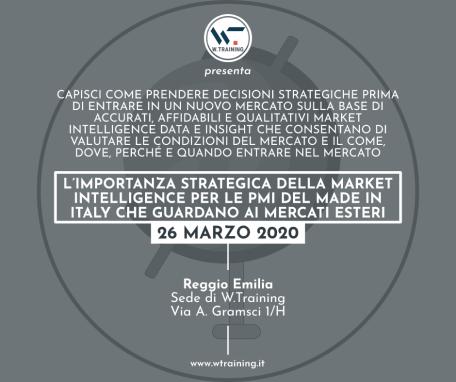 L'IMPORTANZA STRATEGICA DELLA MARKET INTELLIGENCE PER LE PMI DEL MADE IN ITALY CHE GUARDANO AI MERCATI ESTERI