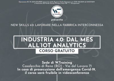 INDUSTRIA 4.0: DAL MES ALL'IOT ANALYTICS