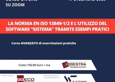 """LA NORMA EN ISO 13849-1/2 E L'UTILIZZO DEL SOFTWARE """"SISTEMA"""" TRAMITE ESEMPI PRATICI – AVANZATO"""