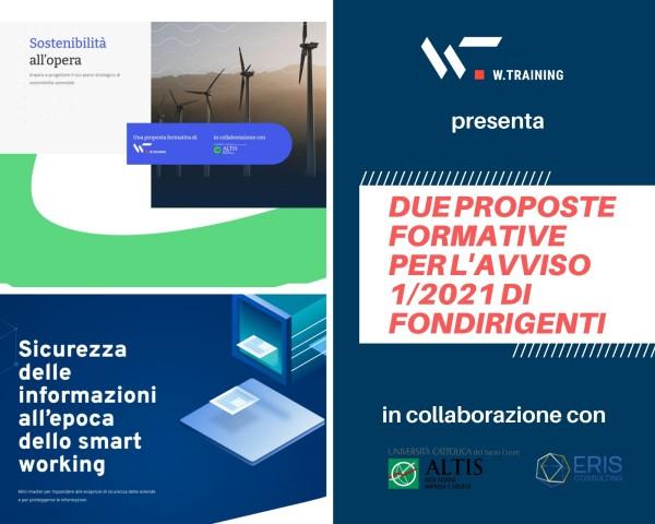 Sostenibilità e sicurezza delle informazioni: due proposte formative per l'Avviso 1/2021 di Fondirigenti