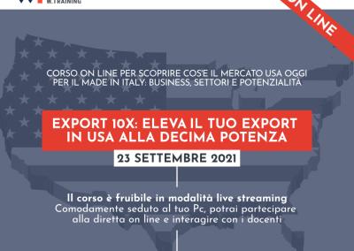 EXPORT 10X: ELEVA IL TUO EXPORT IN USA ALLA DECIMA POTENZA