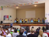 Grade R children on stage