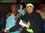 Westlake women receive new shoes - Wed 22 June 11 010