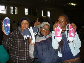 Westlake women receive new shoes - Wed 22 June 11 023
