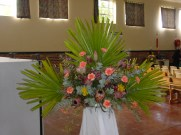One of the beautiful flower arrangements by Eleanor Lawrence.
