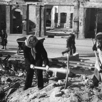 Trümmerräumung in Würzburg