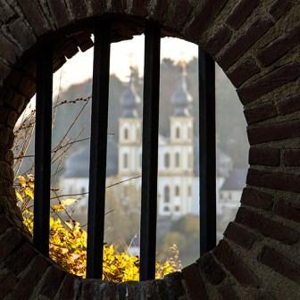 Von der Nordseite der Festung ergeben sich teilweise interessant Blicke hinüber zum Käppele.