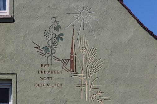 Ein altes Wandbild in Heidingsfeld