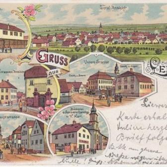 Gruß aus Lengfeld - 1898.