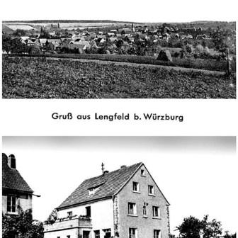 Historische Postkarte aus Lengfeld aus dem Jahr 1915.