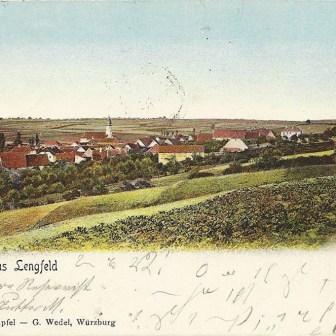 Historische Postkarte aus Lengfeld aus dem Jahr 1904.
