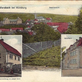 Historische Postkarte aus Versbach aus dem Jahr 1926.