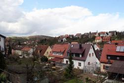 Blick über die Dächer von Versbach.