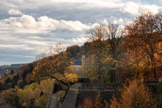 Blick auf das Käppele im Herbst