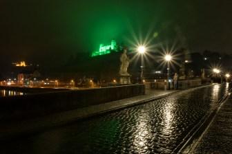 Die Festung in grün am Welttag gegen die Todesstrafe (30. November 2018).