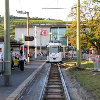 Bauarbeiten an den Gleisanlagen der Straßenbahn.