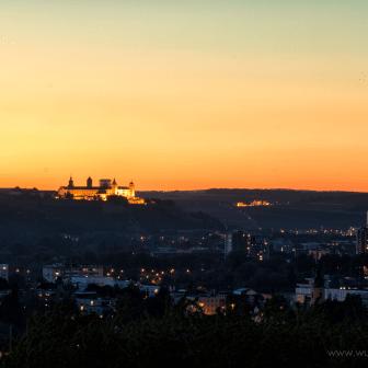 Blick auf Würzburg, gesehen aus Heidingsfeld.