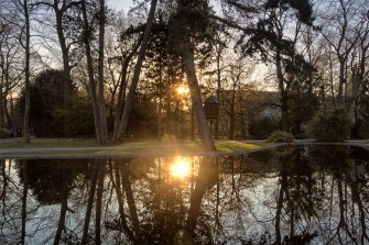 Sonnenuntergang im Ringpark