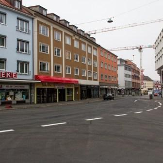 Blick auf die Eichhornstraße