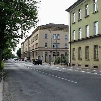 Die ehemaligen Verwaltungsgebäude der Kaserne an der Nürnberger Straße.