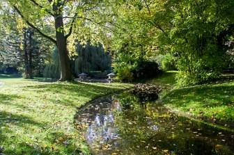 """Die Teichanlagen wie hier in """"Klein-Nizza"""" gehörten auch zum Konzept von Jöns Person Lindahl der den Ringpark einst entworfen hat."""