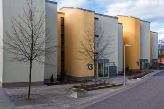 Renovierte Häuser in der Brüsseler Straße am Heuchelhof