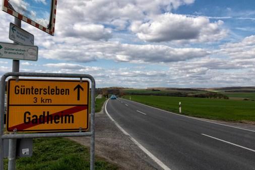 Ortsausgang in Richtung Güntersleben.