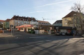 Einkaufsmöglichkeiten an der Erthalstraße im Stadtteil Frauenland.