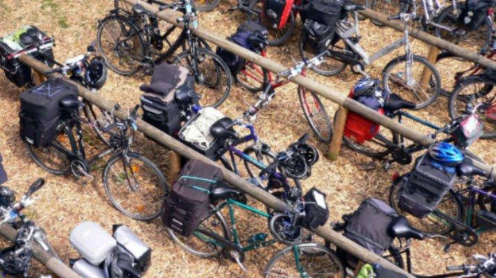 Fahrradparkplatz in Würzburg