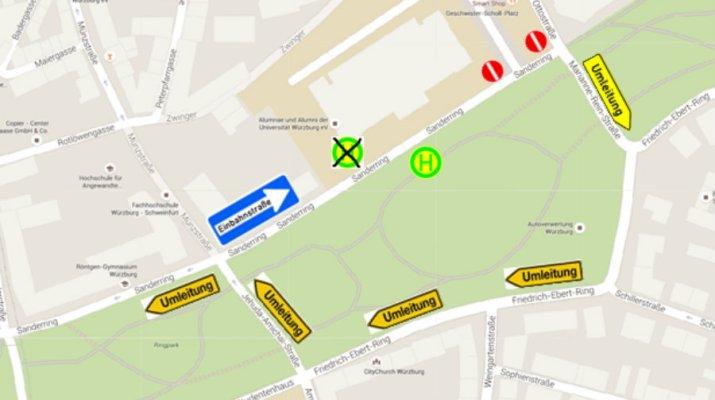ÖPNV: Einbahnregelung Sanderstraße ab 18. April