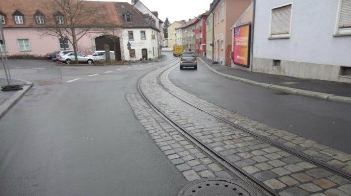 ÖPNV: Gleisbauarbeiten in Heidingsfeld (Foto: WVV)
