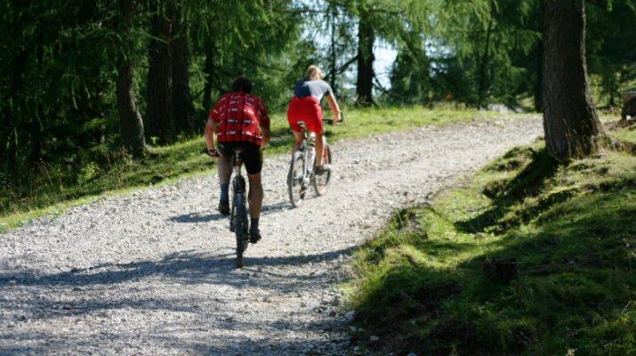 Mountainbiker auf der Strecke