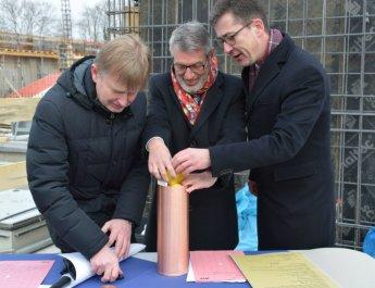 Grundsteinlegung für neues Freizeitbad in der Zellerau