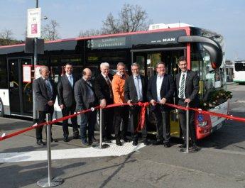 Mit der neuen Buslinie 29 zur Landesgartenschau
