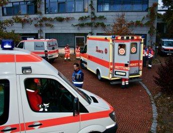 Training für den Ernstfall: Behandlungsplatz im Uniklinikum Würzburg aufgebaut