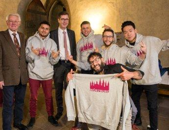 Stadt Würzburg ehrt Weltmeister im Breakdance