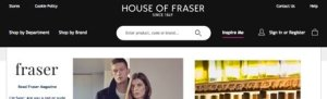 Screen of the House of Fraser