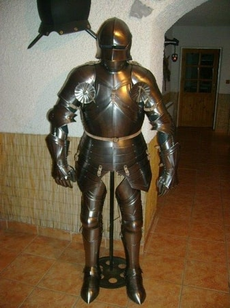 CUSTOM SUIT OF ARMOUR WITH SALLET, polished, 1.5 mm ...