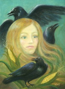 Crow Queen - copyright Bernadette Wulf